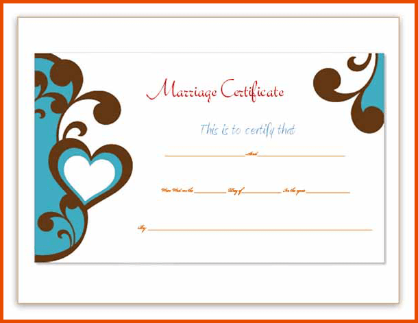 Marriage Certificate Template  Document Formats amp Templates