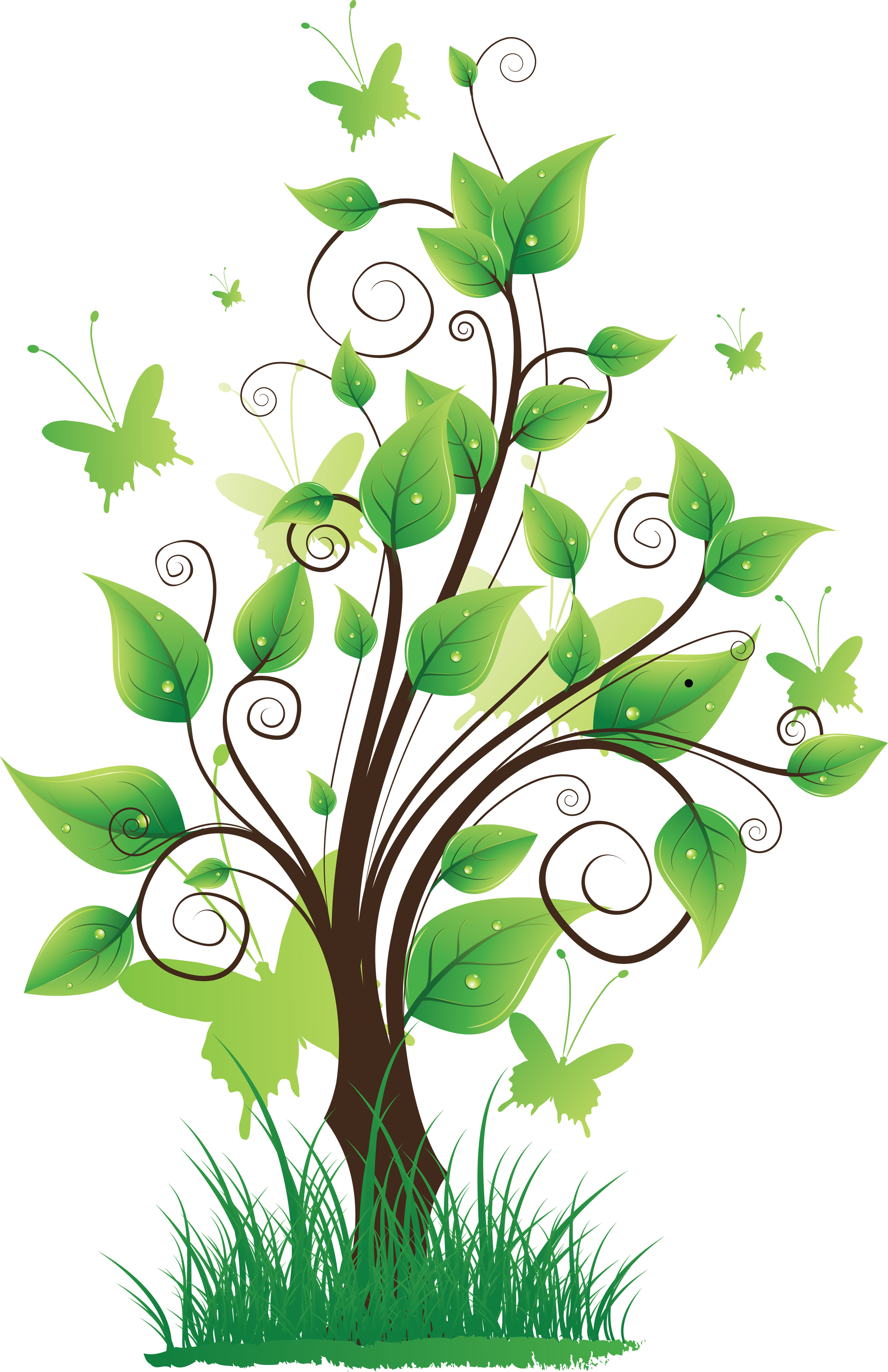 Tree png clipart best for Transparent top design