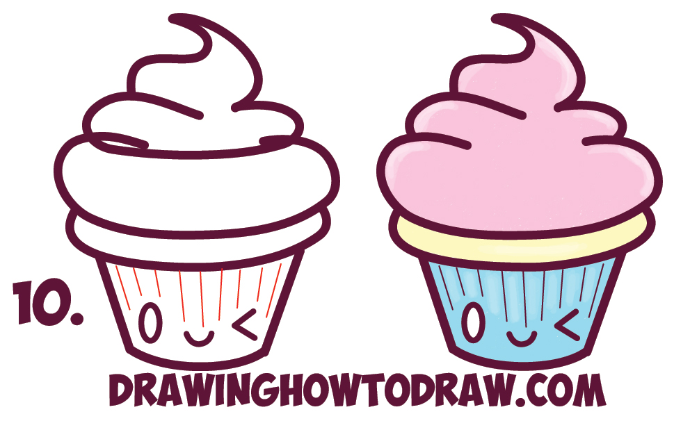 Cupcakes Drawing Clipart Best