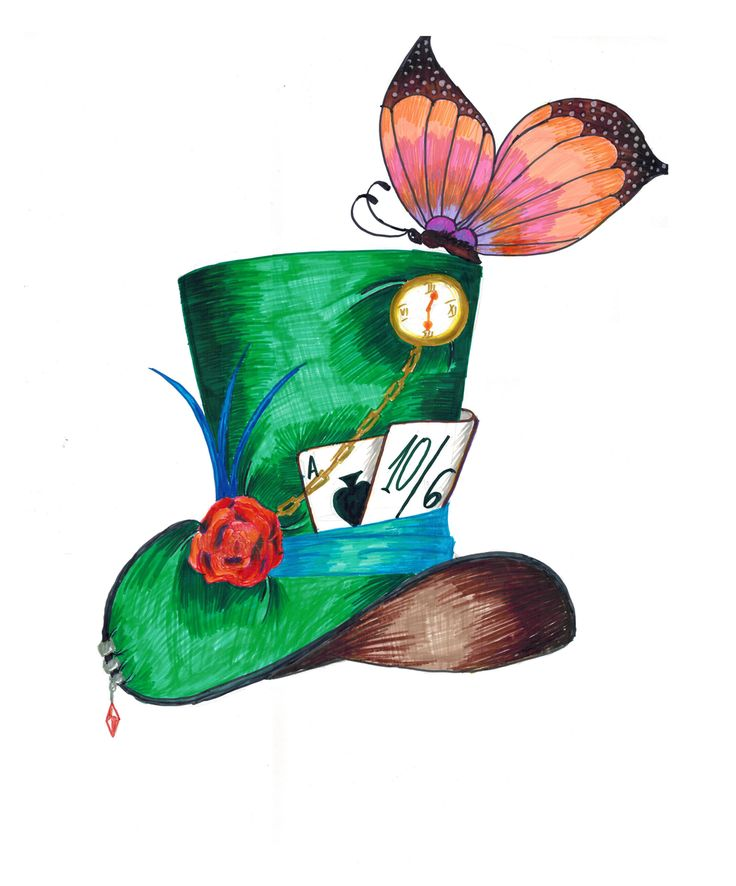 mad hatter drawing clipart best