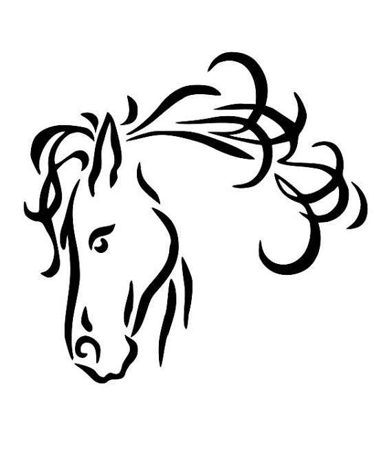 Line Art Download Free : Horse head line drawing clipart best