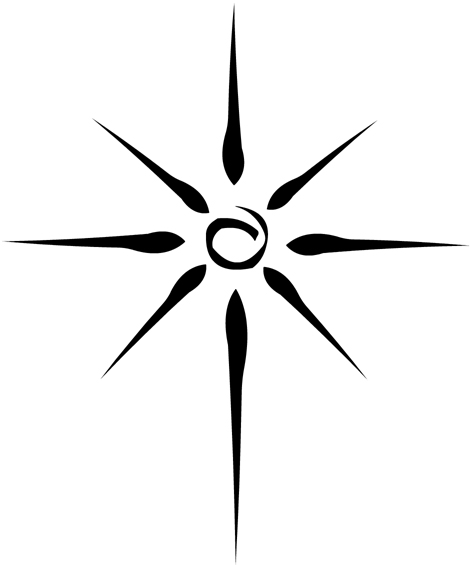 Simple Tribal Sun Tattoo - ClipArt Best