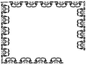 Black and White Fancy Borders