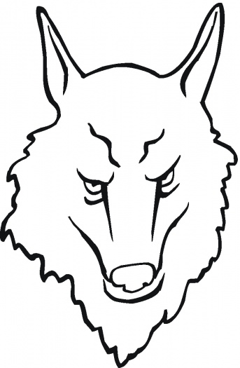 Wolf face drawing clipart best for Wolf face coloring pages