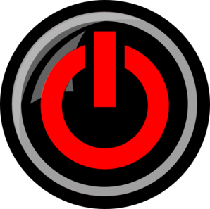 Red Power Button clip art - vector clip art online, royalty free ...