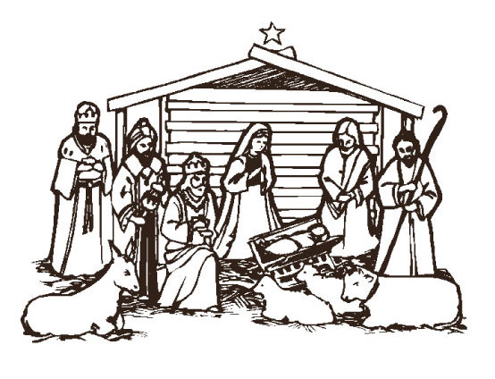 Christmas Manger Clipart | quotes.lol-rofl.com