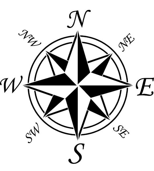 Compass Rose Drawing Engrave · Compass Rose