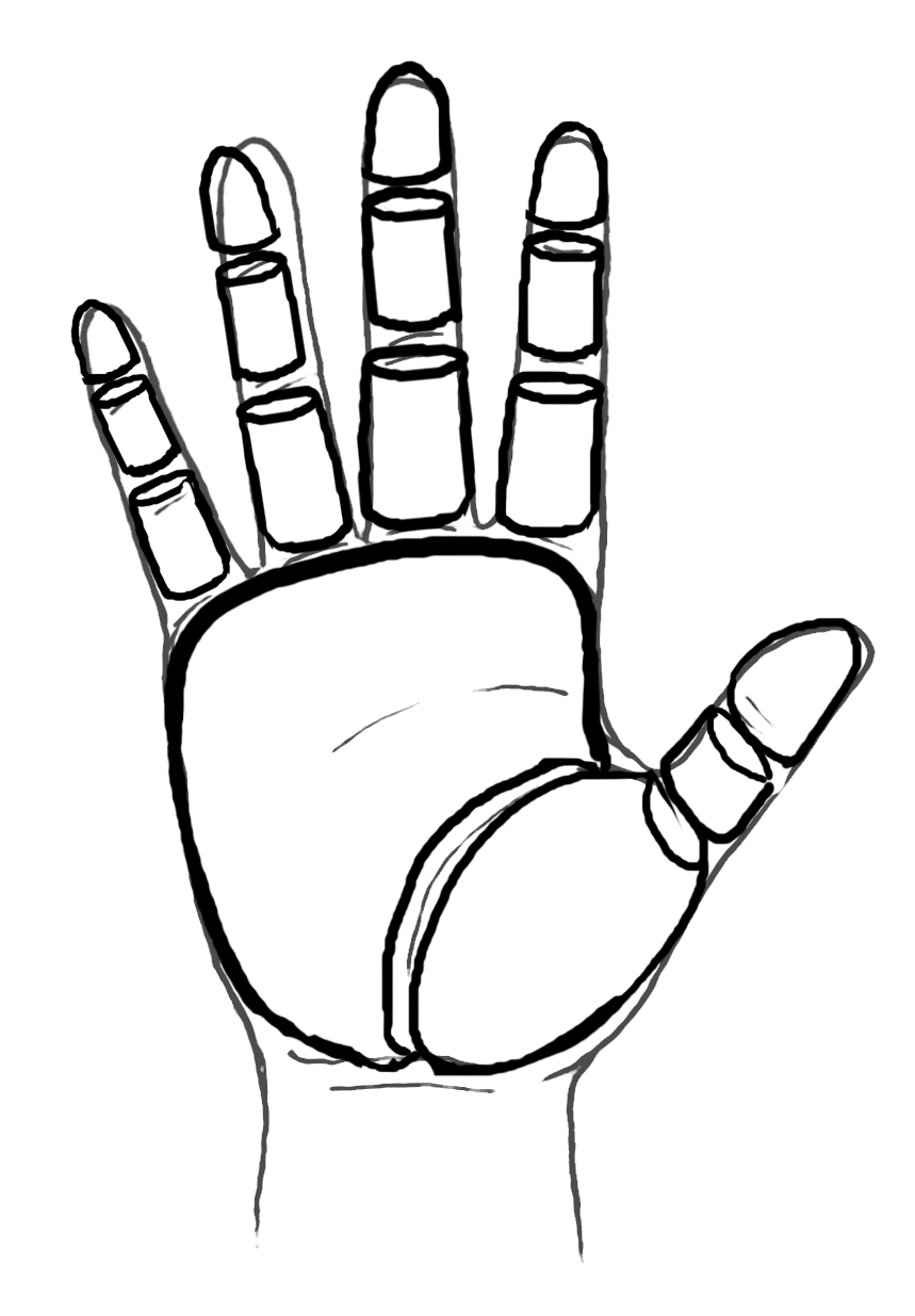 Line Art Hand : Line drawing of hand clipart best