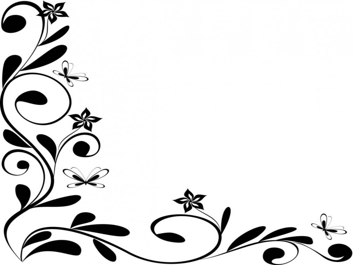 cool frame designs black and white floral border design