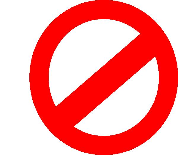 Say No Symbol - ClipArt Best