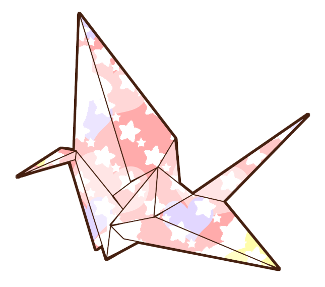 drawing of a paper crane clipart best