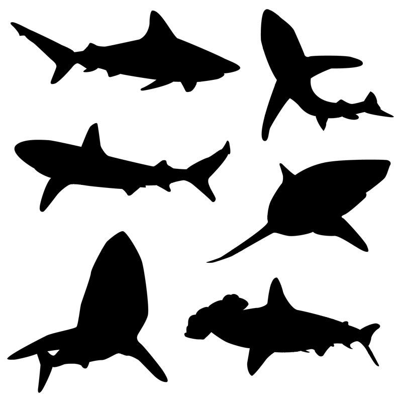 Shark Silhouette Tattoo - ClipArt - 30.3KB