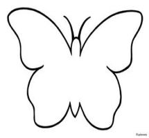Butterfly Outline Black And White - ClipArt Best