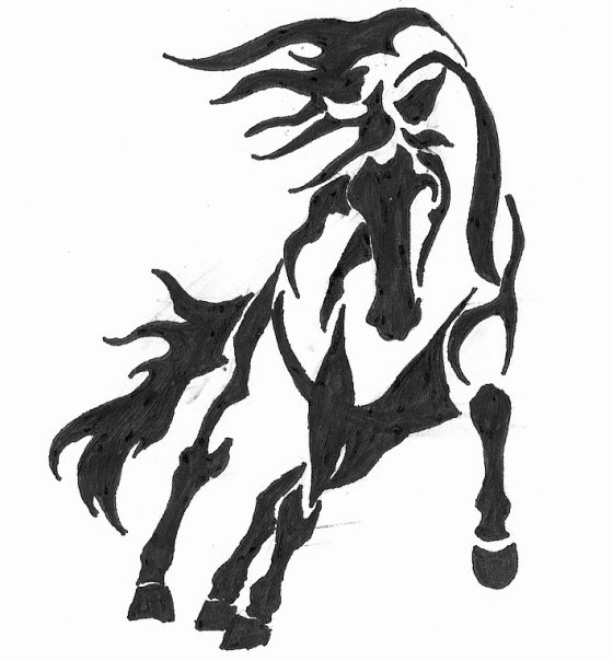 wild horse drawings clipart best. Black Bedroom Furniture Sets. Home Design Ideas