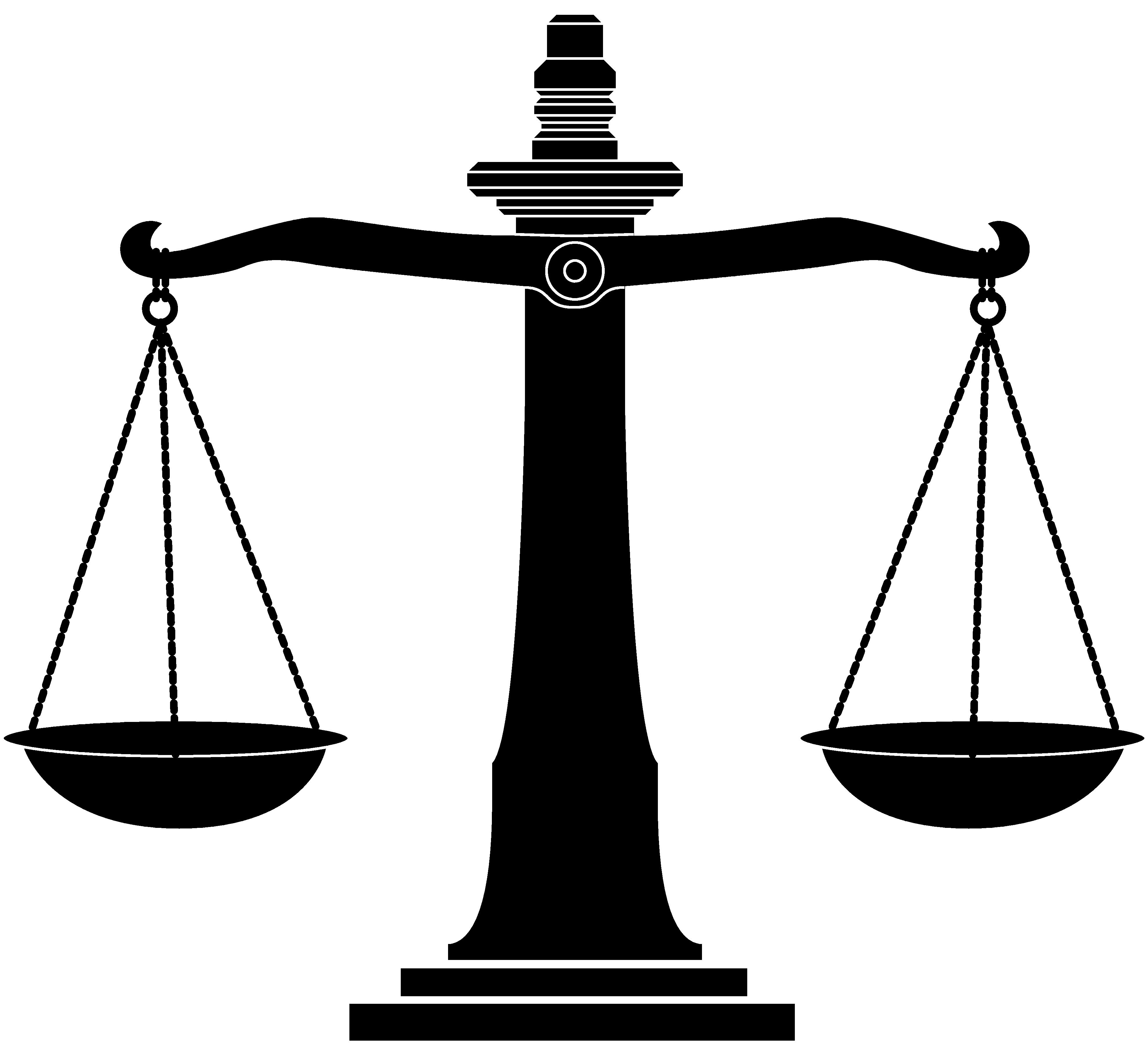 Scales of justice clip art black and white
