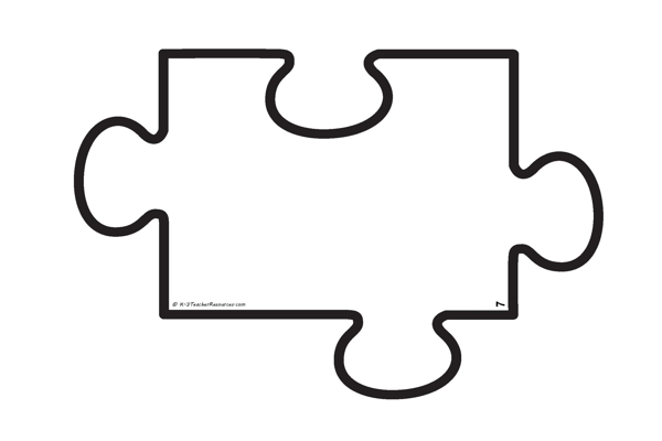 puzzle piece outline coloring pages - photo#20