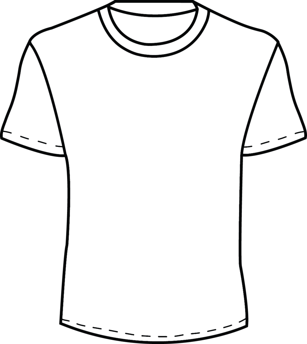 Blank T Shirt Template For Colouring - ClipArt Best