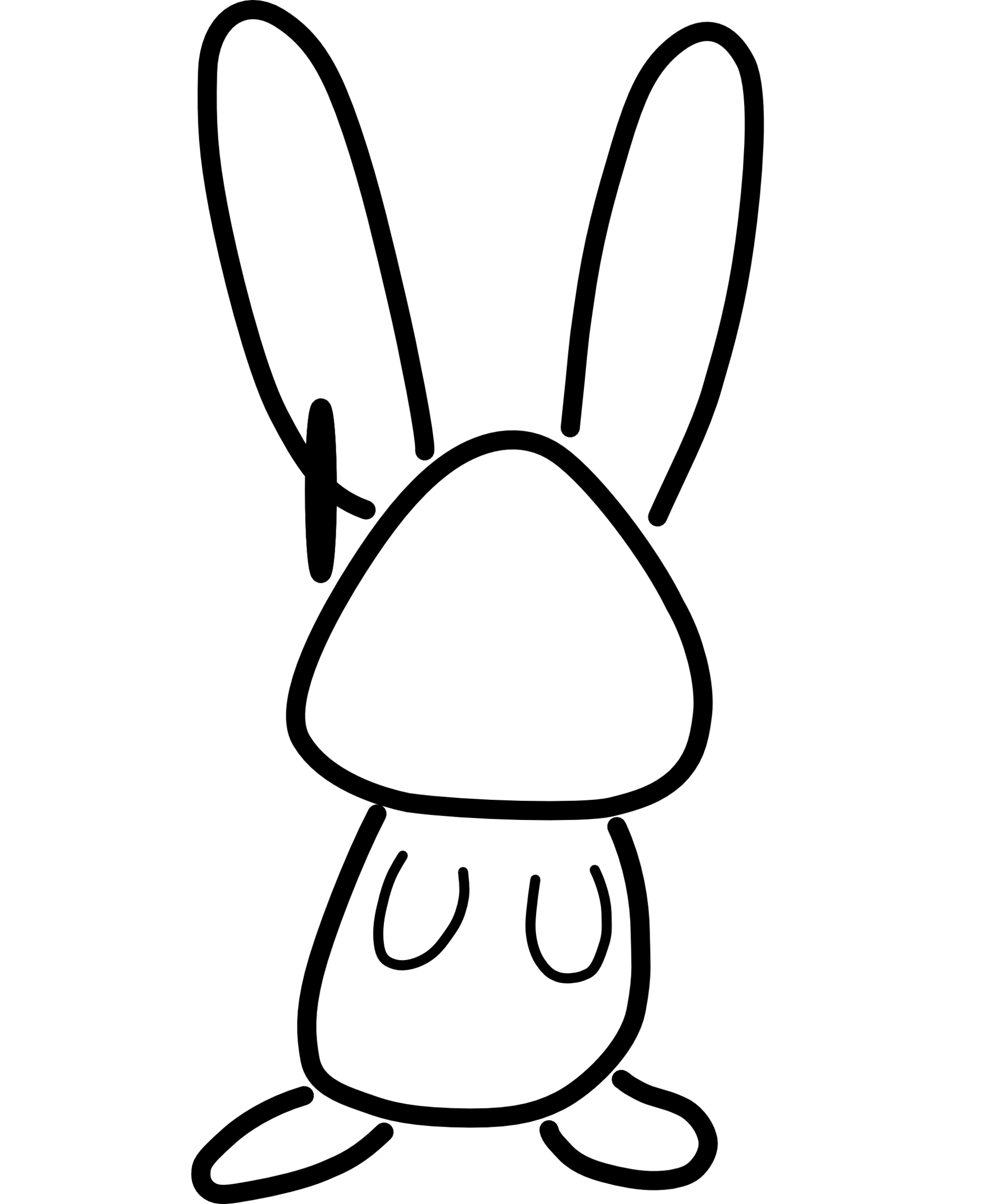 Line Drawing Bunny : Rabbit line drawing clipart best