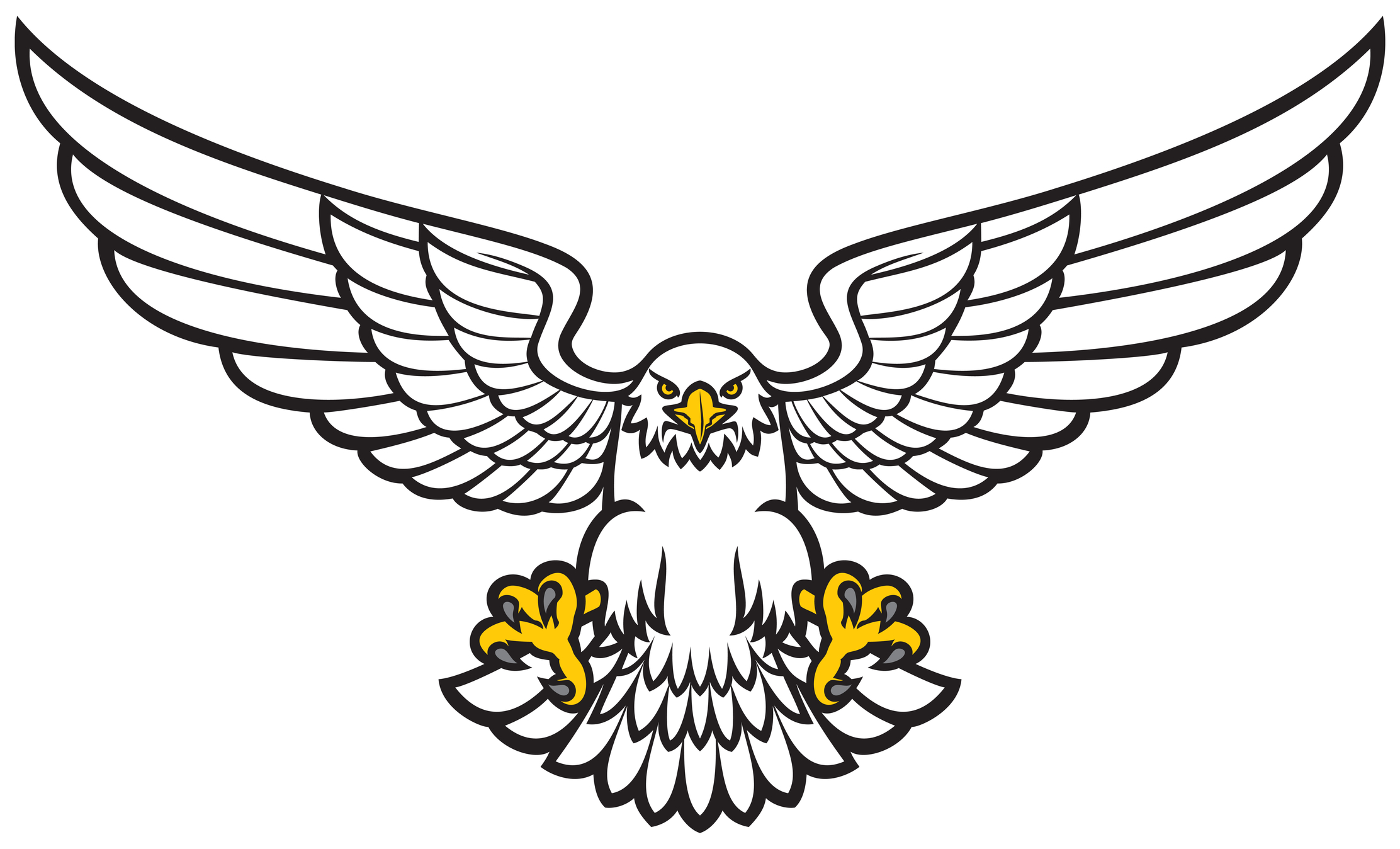 Line Drawing Eagle : Line drawings for eagle clipart best