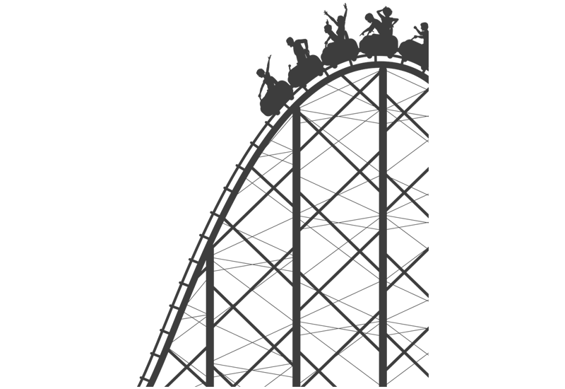 how to draw a simple roller coaster