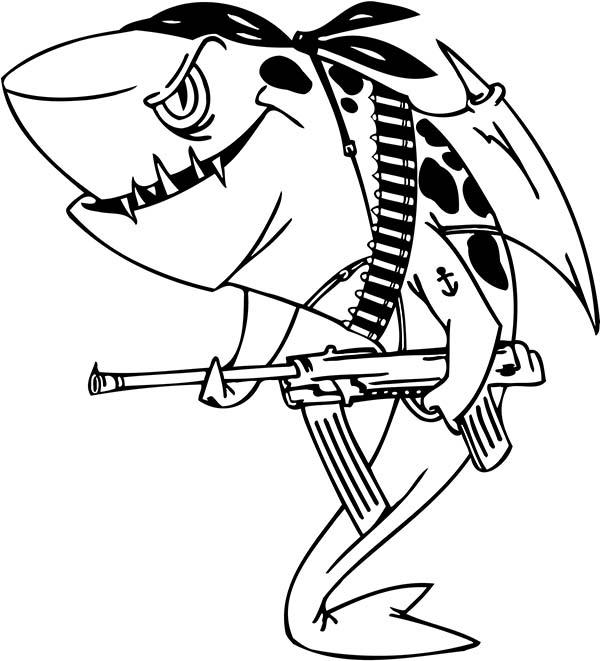 Раскраска про акулу
