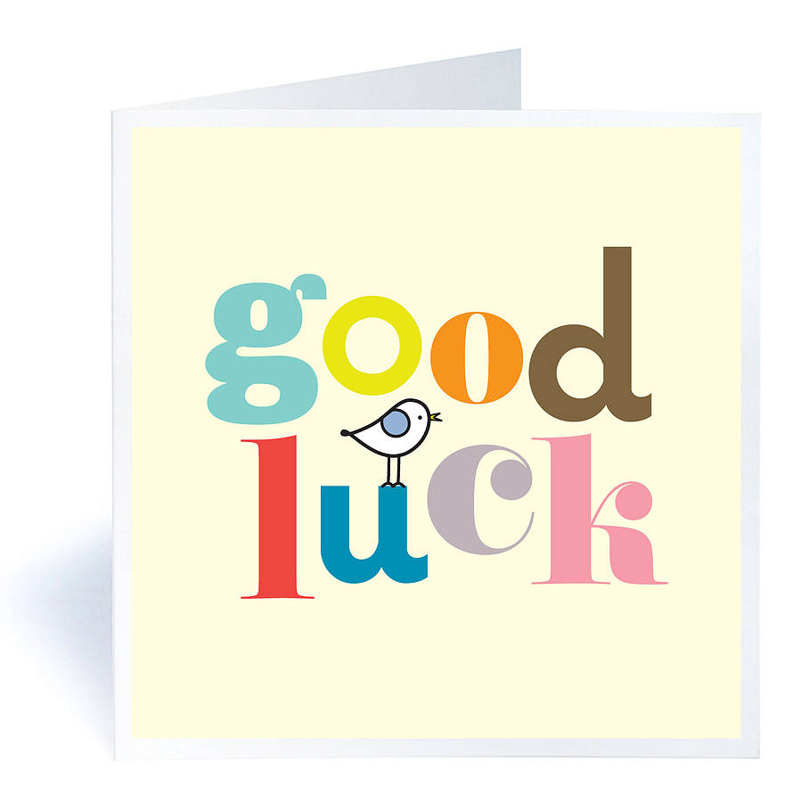 This is a graphic of Crafty Printable Good Luck Cards