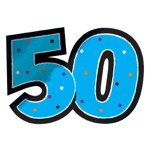 50th Birthday Balloons Clipart