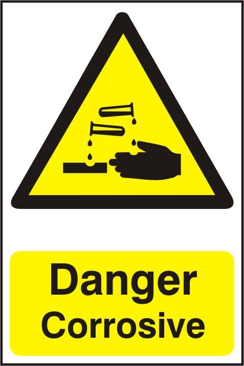 Danger Corrosive Liquids Sign G4807 - by SafetySign.com