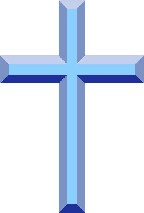 christian cross clip art blue - photo #3