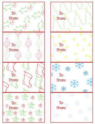 Free Printable Christmas Gift Tags for Your Christmas Gifts