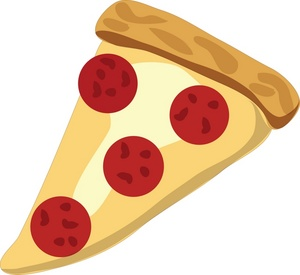 Pizza Clipart Image - A Slice Of Pepperoni And Cheese Pizza