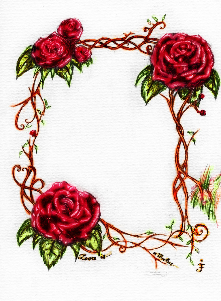 Vine Designs Art : Rose vines drawings clipart best