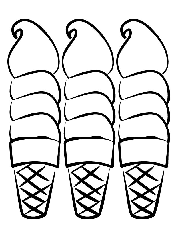 free snow cone coloring pages - photo#16