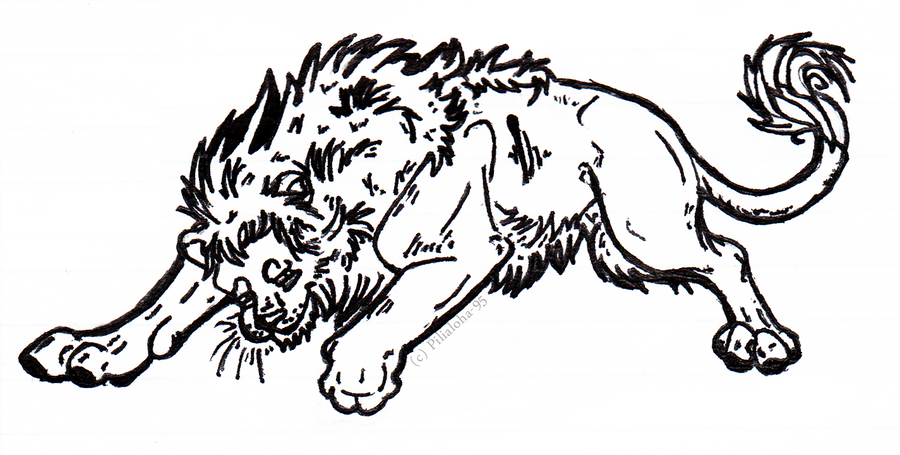 Line Drawing Lion : Best images collections hd for gadget windows mac android