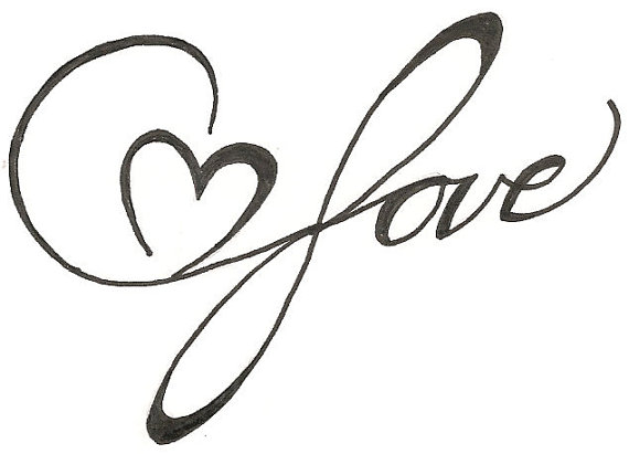Infinite Love Heart Drawing Original Tattoo by ...