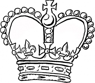 Kings Crown Coloring Pages Clipart Best