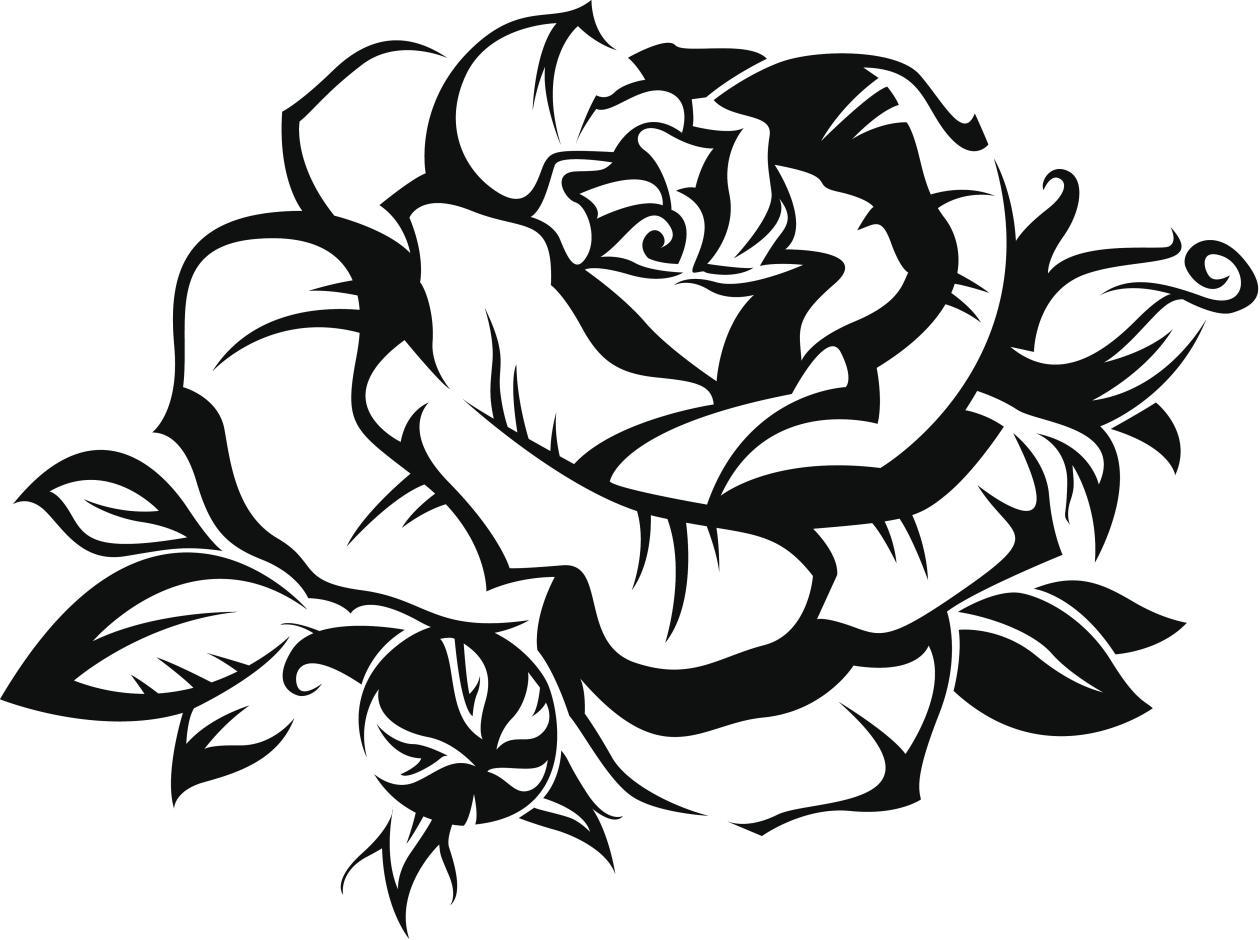 Im genes de rosas tribales clipart best - Dibujos tribales para tatuar ...