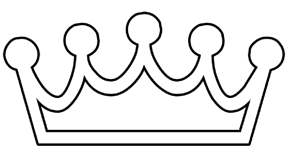 Crown black and white clipart