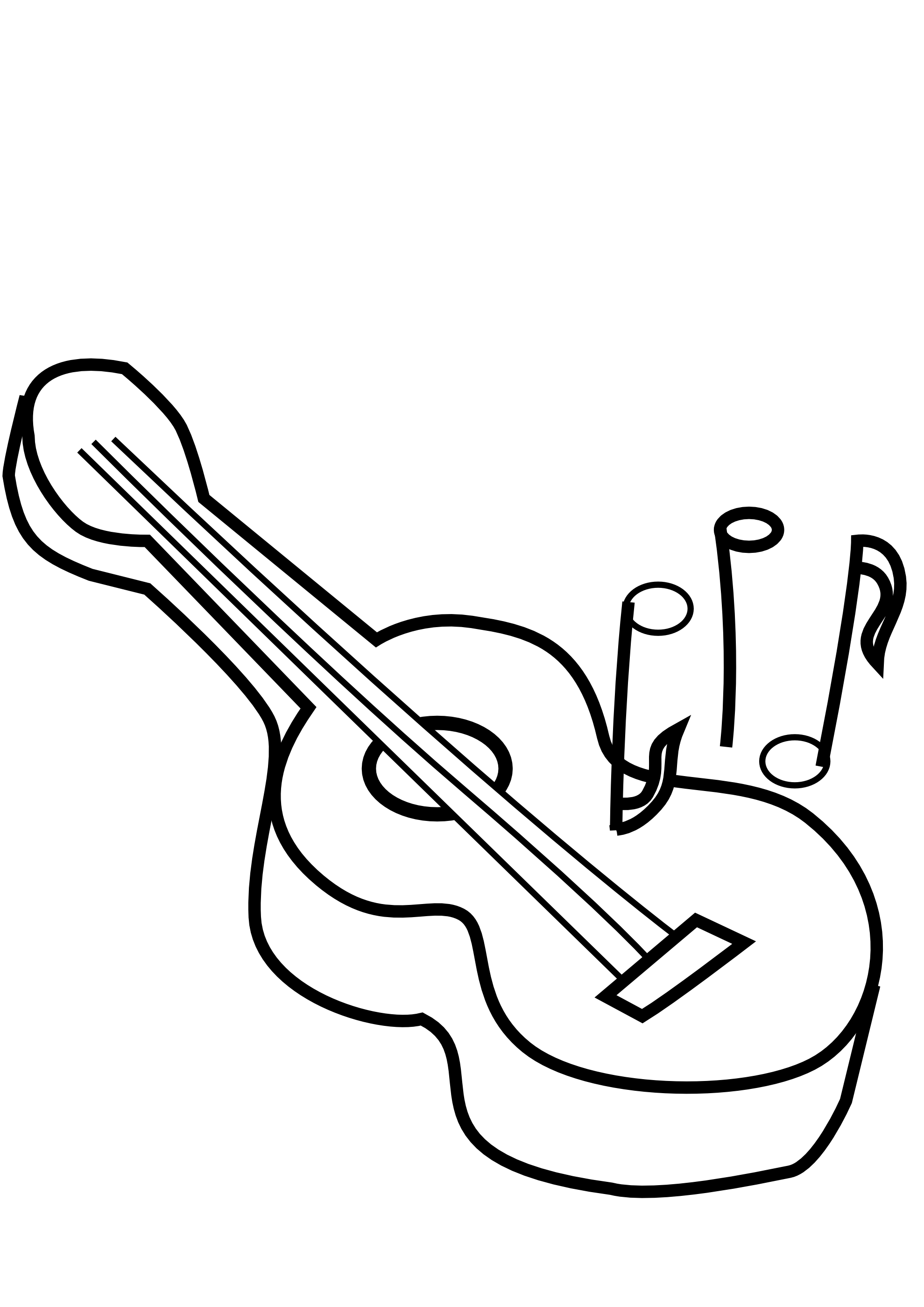 Black And White Cartoon Guitar - ClipArt Best