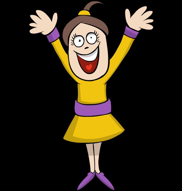 happy girl cartoon images clipart best