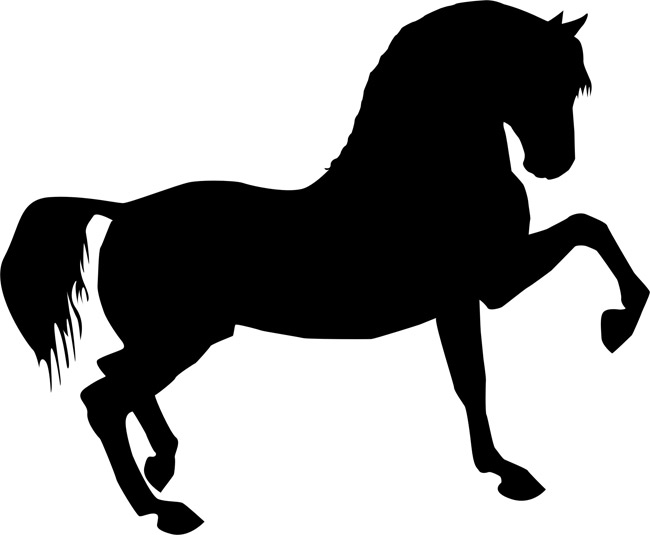 Resource image with horse stencil printable