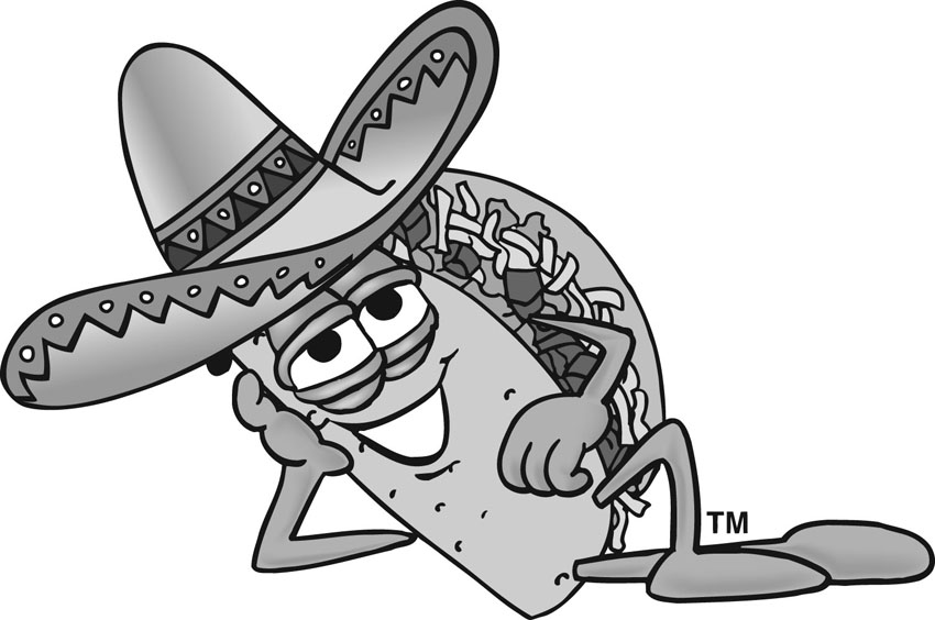 Taco Dinner Clip Art on computer led