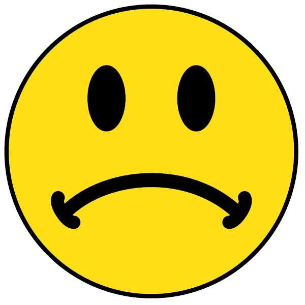 Unhappy smiley face clip art