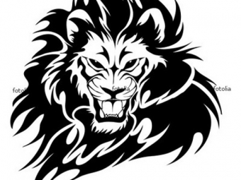 Lion black and white tattoo clipart best for Black and white lion tattoo