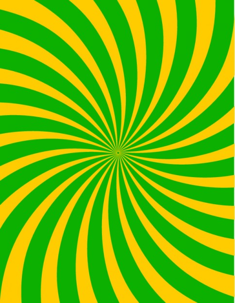 Retro sun rays green and yellow abstract background