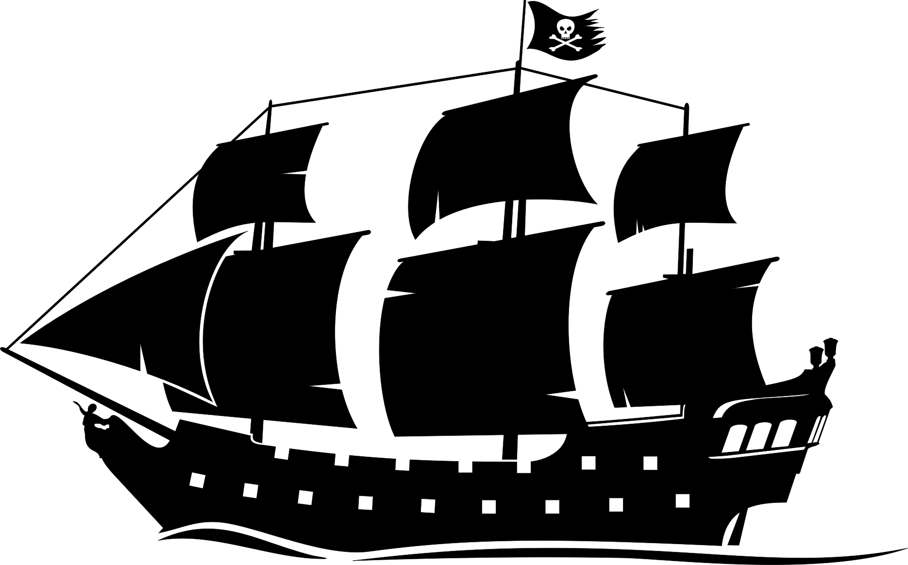 Pirate Ship Silhouette - ClipArt Best