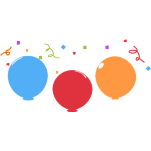 Confetti And Balloons Clipart - ClipArt Best