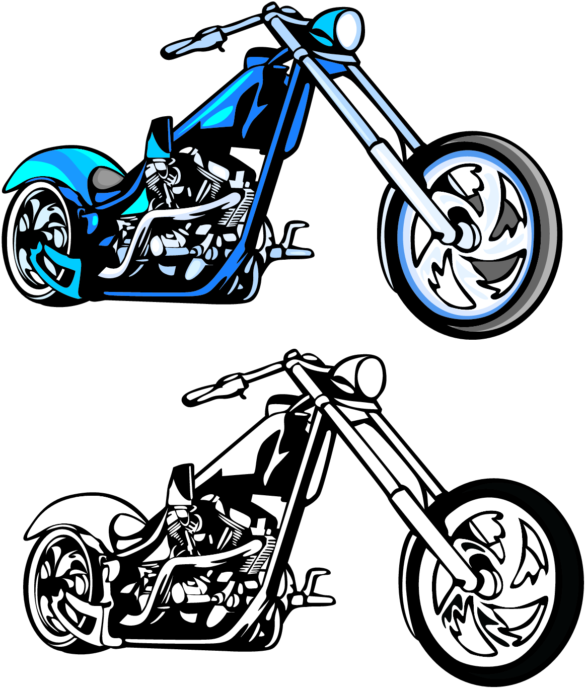 Harley Davidson Clipart - ClipArt Best