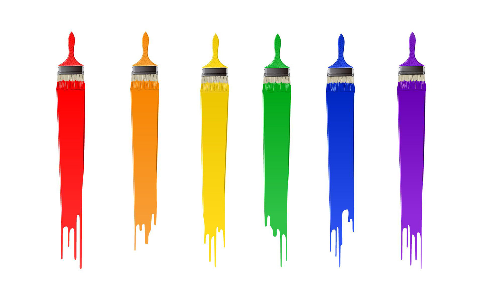 Paint brushes clipart