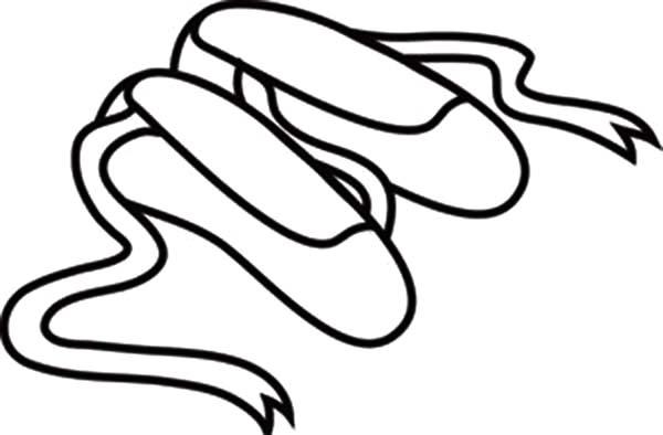 Ballet Shoes Coloring Pages ClipArt